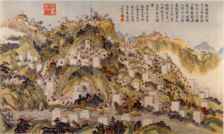 A scene of the Jinchuan Campaign 1771-1776